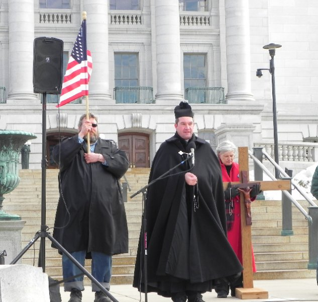 Fr. John Sasse leads the Holy Rosary