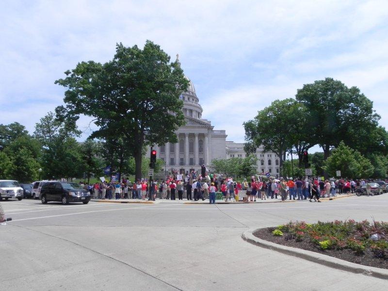 Walkerville- noon, June 14, 2011 ~ 300 demonstrators