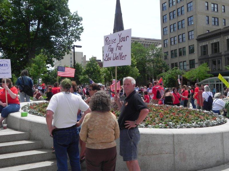 Governor Walker supporters