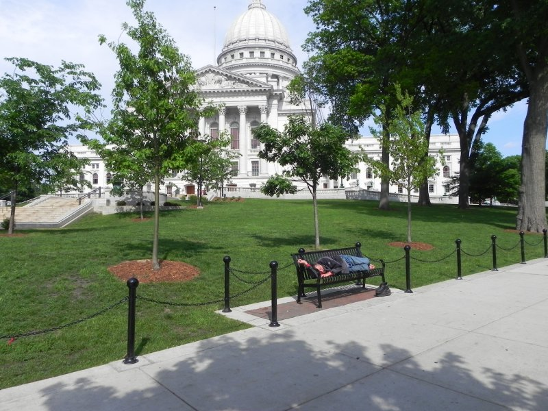 Capitol Square- not exactly crowded