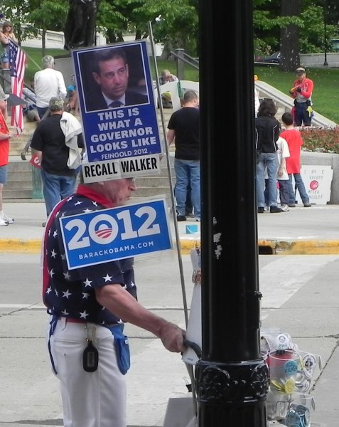 Looks like Russ Feingold is posturing himself to replace Scott Walker (poster).