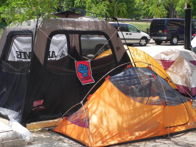 Tents closer up