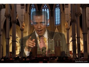 Obama at Holy Cross Cathedral