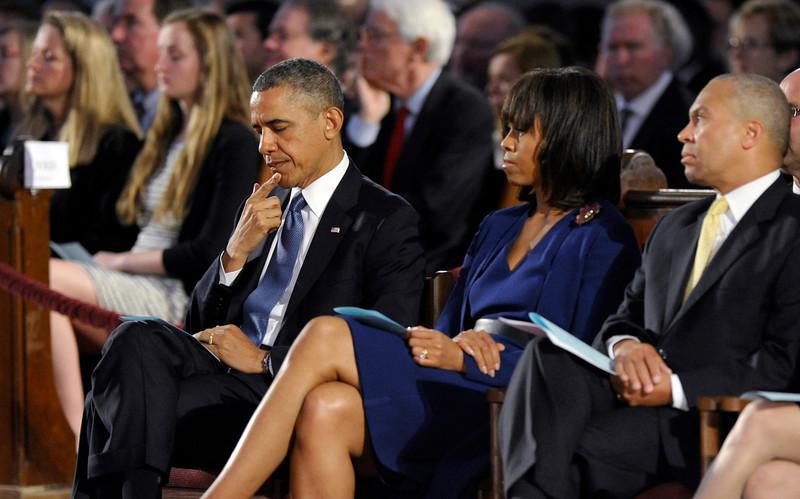 Barack Obama, Michelle Obama, Duvall Patrick