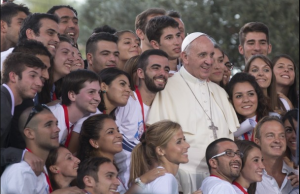 Pope with Italian Youth2