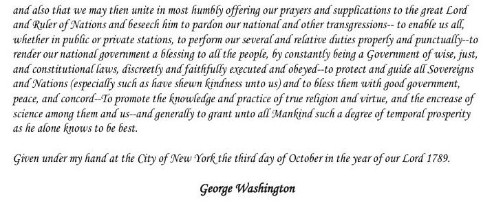 Thanksgiving Proclamation Text 2