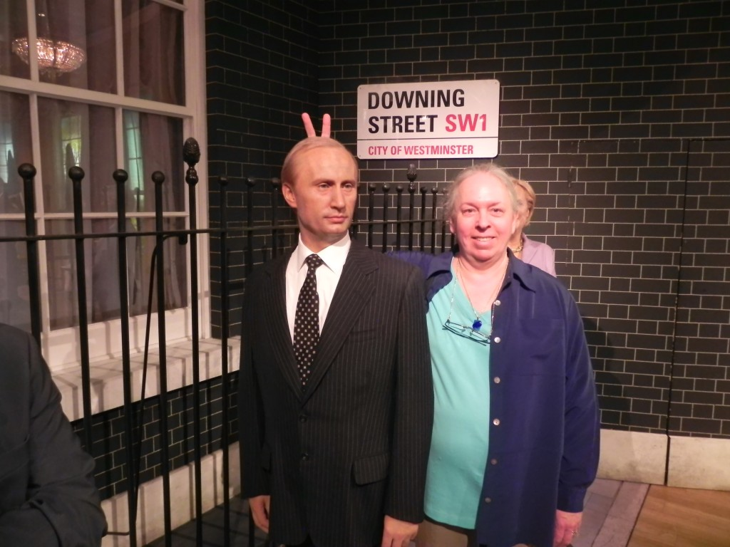 Syte Reitz encounters Vlad Putin in London at Madame Tussaud's